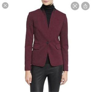 Rag & Bone Burgundy Collar Archer Jacket blazer